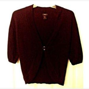 Ann Taylor Cardigan Sweater Black Small V-Neck